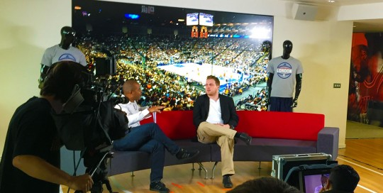 NBA announcement exclusively streamed LIVE sports filming sport webcasting company to stream sport to facebook streaming to youtube 360 video production to film sport uk